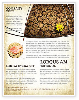 Desert Flower Flyer Template, 04901, Nature & Environment — PoweredTemplate.com