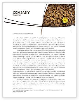 Nature & Environment: Desert Flower Letterhead Template #04901