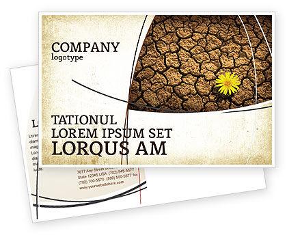 Nature & Environment: Desert Flower Postcard Template #04901