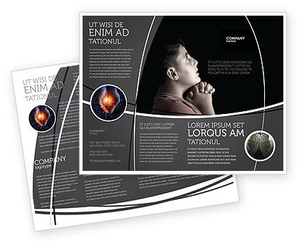 Religious/Spiritual: Prayer Brochure Template #04902