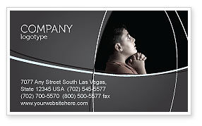 Prayer Business Card Template, 04902, Religious/Spiritual — PoweredTemplate.com