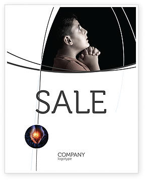 Religious/Spiritual: Prayer Sale Poster Template #04902