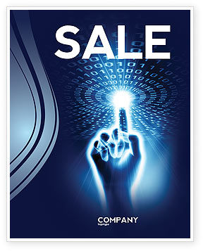 Technology, Science & Computers: Connection With Digital World Sale Poster Template #04903