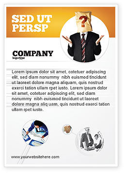 Consulting: Papieren Zak Advertentie Template #04905