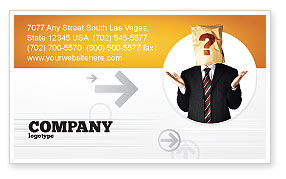 Paper Bag Business Card Template, 04905, Consulting — PoweredTemplate.com