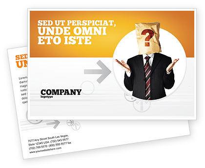 Paper Bag Postcard Template, 04905, Consulting — PoweredTemplate.com