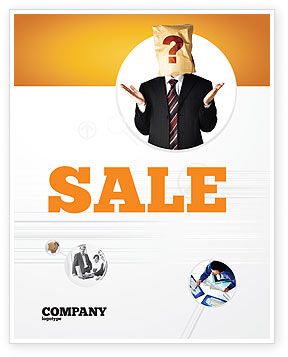 Consulting: Paper Bag Sale Poster Template #04905