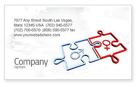 Medical: Gender Relations Business Card Template #04907