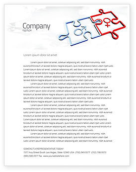 Gender Relations Letterhead Template, 04907, Medical — PoweredTemplate.com