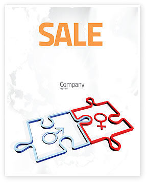 Gender Relations Sale Poster Template, 04907, Medical — PoweredTemplate.com