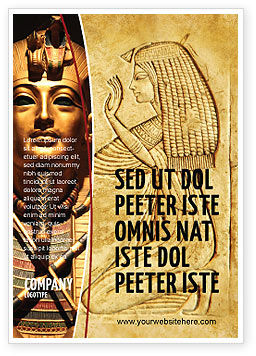 Education & Training: Egyptian Engraving Ad Template #04908