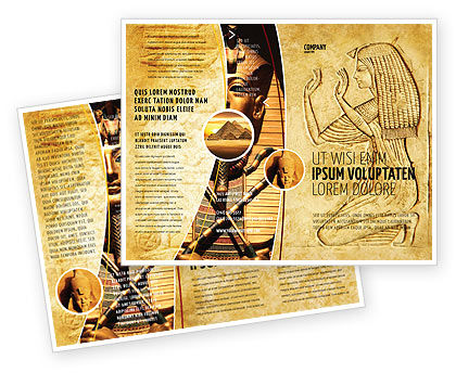Egyptian Engraving Brochure Template, 04908, Education & Training — PoweredTemplate.com