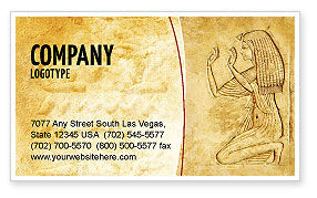 Education & Training: Egyptian Engraving Business Card Template #04908