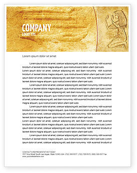 Education & Training: Egyptische Gravure Briefpapier Template #04908