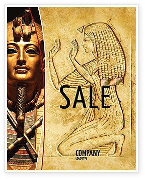 Egyptian Engraving Sale Poster Template, 04908, Education & Training — PoweredTemplate.com