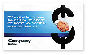 Business Concepts: Currency Trading Business Card Template #04911