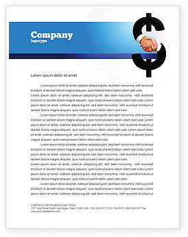 Business Concepts: Currency Trading Letterhead Template #04911