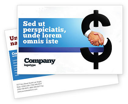 Currency Trading Postcard Template, 04911, Business Concepts — PoweredTemplate.com