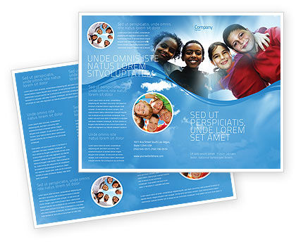 Cultural Diversity Brochure Template, 04914, Education & Training — PoweredTemplate.com