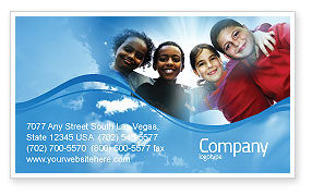 Cultural Diversity Business Card Template, 04914, Education & Training — PoweredTemplate.com