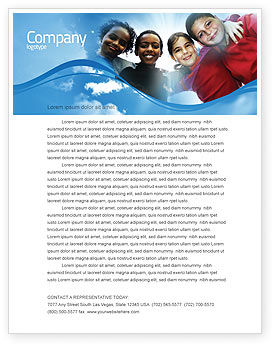 Education & Training: Cultural Diversity Letterhead Template #04914