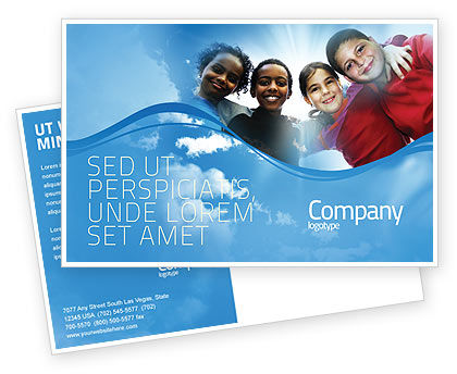Education & Training: Cultural Diversity Postcard Template #04914