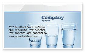 Glass Half Full Business Card Template, 04919, Business Concepts — PoweredTemplate.com