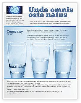 Business Concepts: Modèle de Flyer de verre à moitié plein #04919