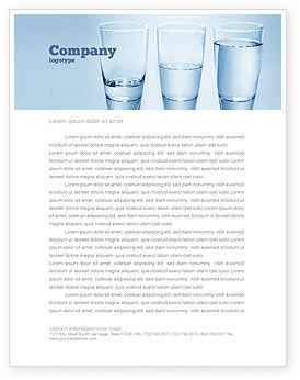 Business Concepts: Glass Half Full Letterhead Template #04919