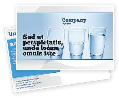 Glass Half Full Postcard Template, 04919, Business Concepts — PoweredTemplate.com
