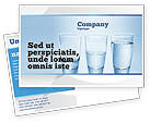 Business Concepts: Glass Half Full Postcard Template #04919