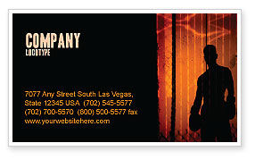 Boxer Business Card Template, 04920, Sports — PoweredTemplate.com