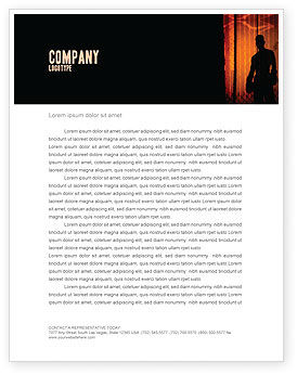 Sports: Boxer Letterhead Template #04920