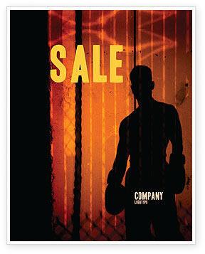 Sports: Boxer Sale Poster Template #04920