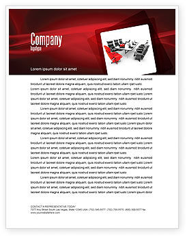Careers/Industry: Conference Hall Waiting For Business Meeting Letterhead Template #04923