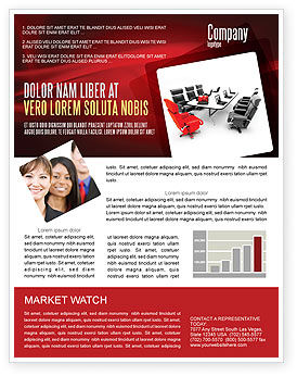 Careers/Industry: Conference Hall Waiting For Business Meeting Newsletter Template #04923