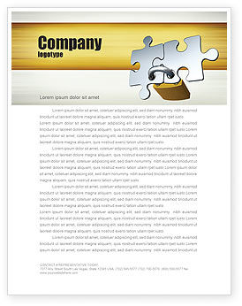 Connection Letterhead Template, 04925, Consulting — PoweredTemplate.com