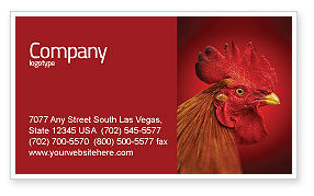 Agriculture and Animals: Rooster Business Card Template #04937