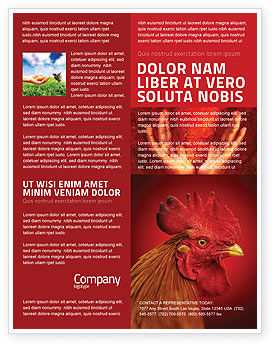 Agriculture and Animals: Rooster Flyer Template #04937