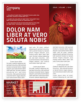 Agriculture and Animals: Rooster Newsletter Template #04937