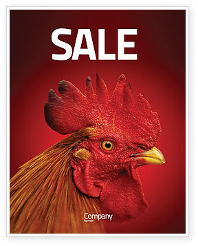 Rooster Sale Poster Template, 04937, Agriculture and Animals — PoweredTemplate.com