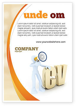 Careers/Industry: Curriculum Vitae Ad Template #04954