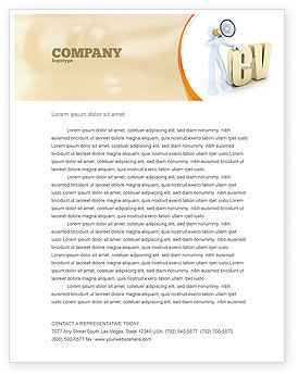 Curriculum Vitae Letterhead Template, 04954, Careers/Industry — PoweredTemplate.com
