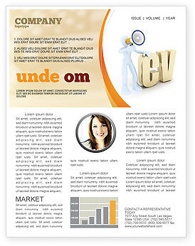Curriculum Vitae Newsletter Template, 04954, Careers/Industry — PoweredTemplate.com