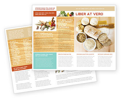Staple Food Brochure Template Design And Layout, Download Now