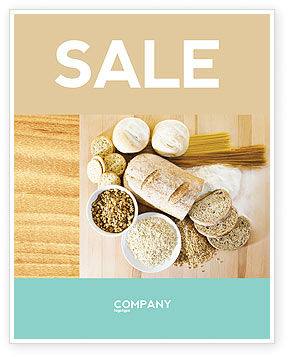 Staple Food Sale Poster Template