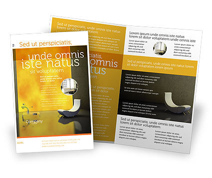 Sustainable Design Brochure Template, 04962, Careers/Industry — PoweredTemplate.com