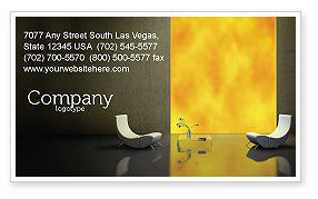 Sustainable Design Business Card Template, 04962, Careers/Industry — PoweredTemplate.com