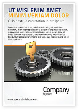 Key To Lock Mechanism Ad Template