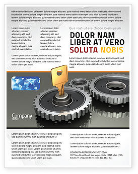 Business Concepts: Key To Lock Mechanism Flyer Template #04966